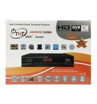 Full hd TNTSTAR TG-X20 digital T2 satellite receiver DVB T2 tnt decoder 4k set top box
