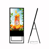 New type Ultra Thin 43 inch vertical portable digital signage
