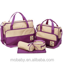 5PCS / Set High Quality Mom Baby Carrier Diaper Bags Wholesale Diaper Bags for Mummy