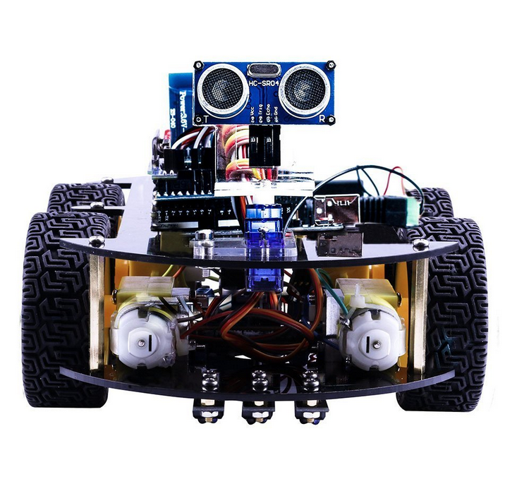 Newest Educational UNO Project Smart Robot Car Kit For Kids with UNO R3 / Ultrasonic Sensor / Bluetooth module