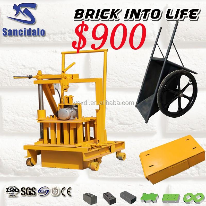 Small Manual Concrete Block Making Machine Cement Block