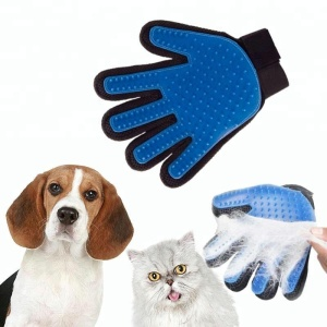 Amazon top seller 2018 fiver fingers pet massage grooming gloves dog cat washing brush gloves