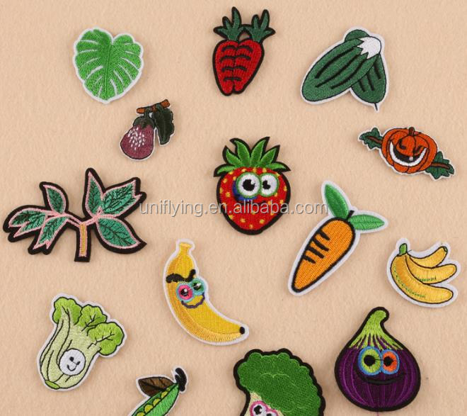 Embroidered Sew On Patches Iron On Vegetables Transfer Fabric Clothes Applique