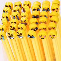 Fashionable product emoji design best quality plastic customized ballpoint pen
