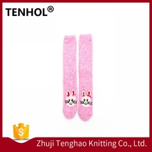 Cartoon tube young girl light up christmas colored dress cotton socks