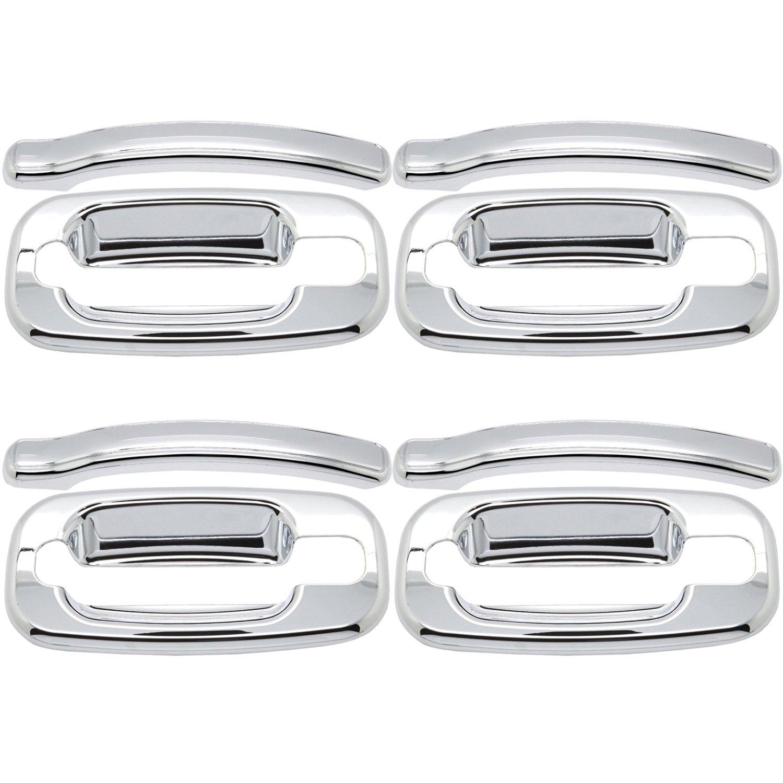 ECCPP For 99-06 Chevrolet Silverado /GMC Sierra Triple Chrome 4 Door Handle Cover Kit