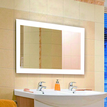 ETERNA LED Backlit Waterproof Hotel Backlit Bathroom Mirrors With Lights  Around The Edge