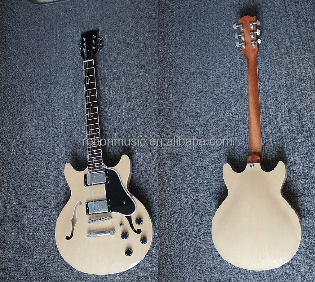 Weifang Rebon es339 Style Jazz Electric Guitar in CR hardware