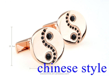 Chinese style cufflink gold mental gift personal cufflink