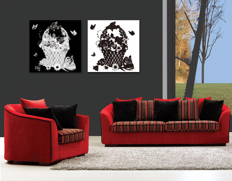 2 Pieces Hot Sell Modern Home decoration Wall Decor oil painting Canvas Art HD picture Print Painting No frame RZ-FL-027