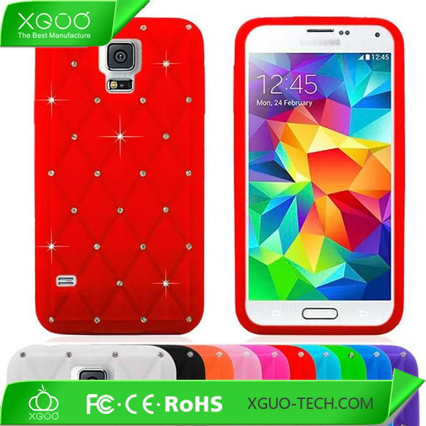 soft rubber bling case for samsung galaxy s5