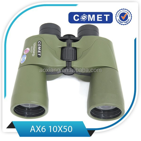Porro military binoculars 10x50 in khaki colour and large eyepiece diameter