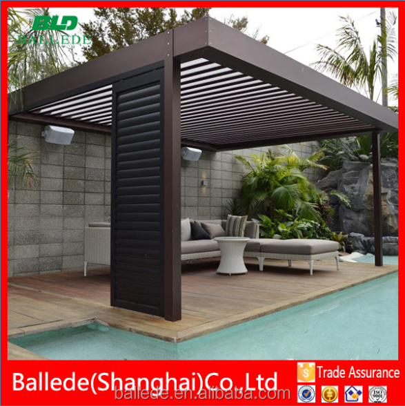 moderne aluminium louvre dach pergola b gen pavillons ger ste br cke produkt id 60455600077. Black Bedroom Furniture Sets. Home Design Ideas