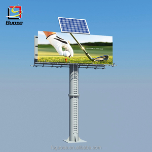 2018 Guose solar digital steel outdoor billboard structure powered electronic billboards
