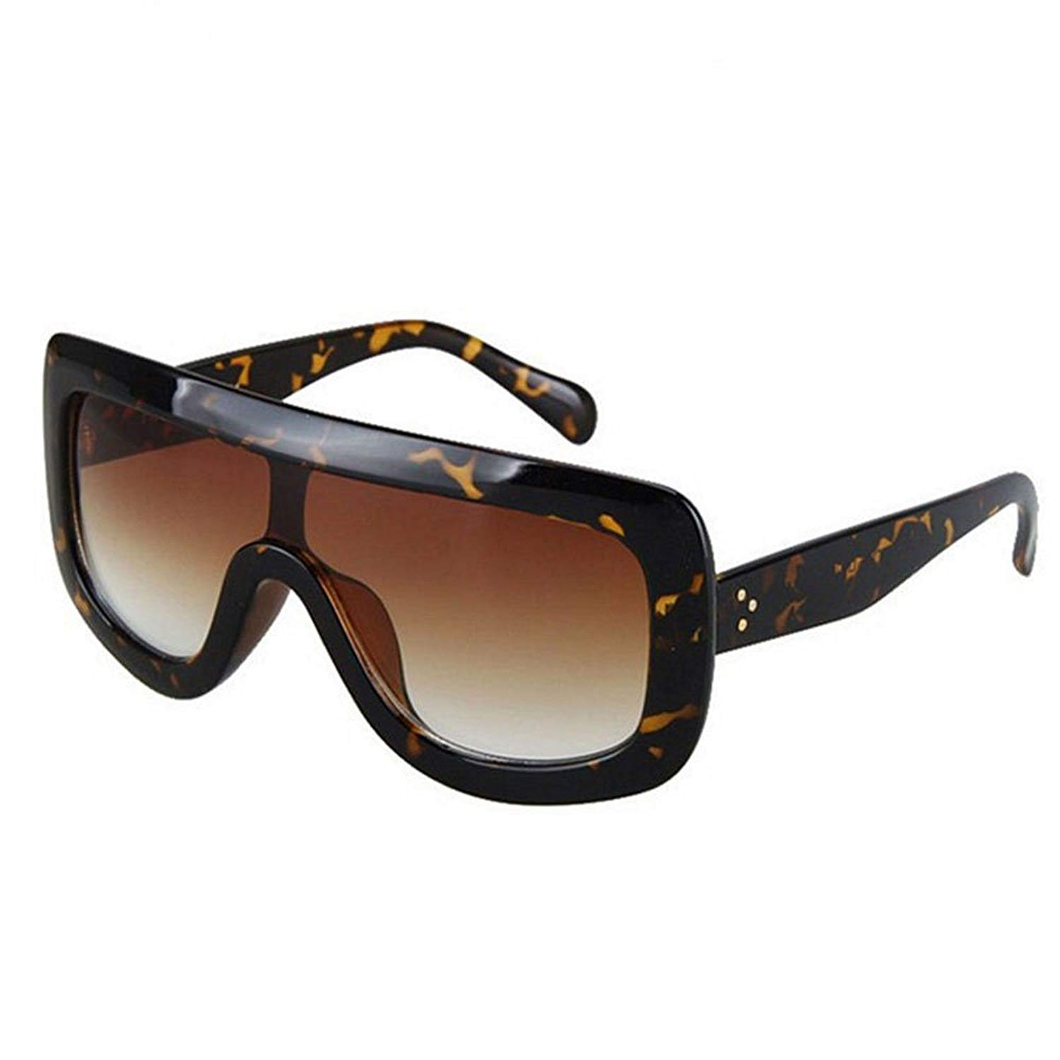 Get Quotations · AStyles - Oversized Big Shield Celebrity Designer Adele  Flat Top Women s Sunglasses 0bc29a39df