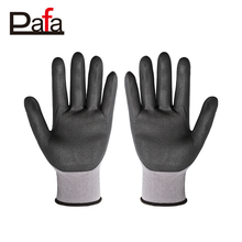Cheap nitrile safety nitrile coated palm protective gloves