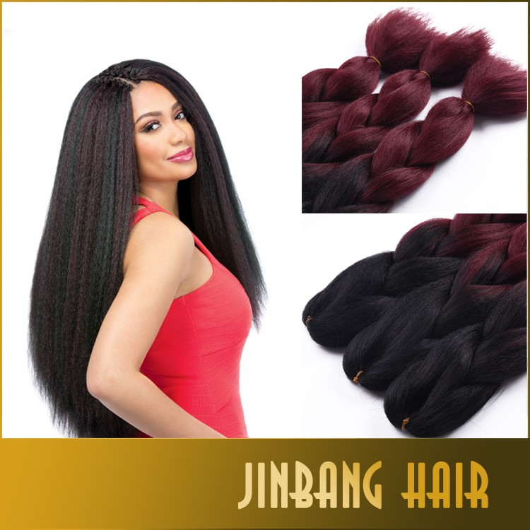 New premium synthetic yaki ombre color hair heat resisted silky super jumbo braid