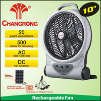 Family air cooling rechargeable ac/dc solar fan price led lighting