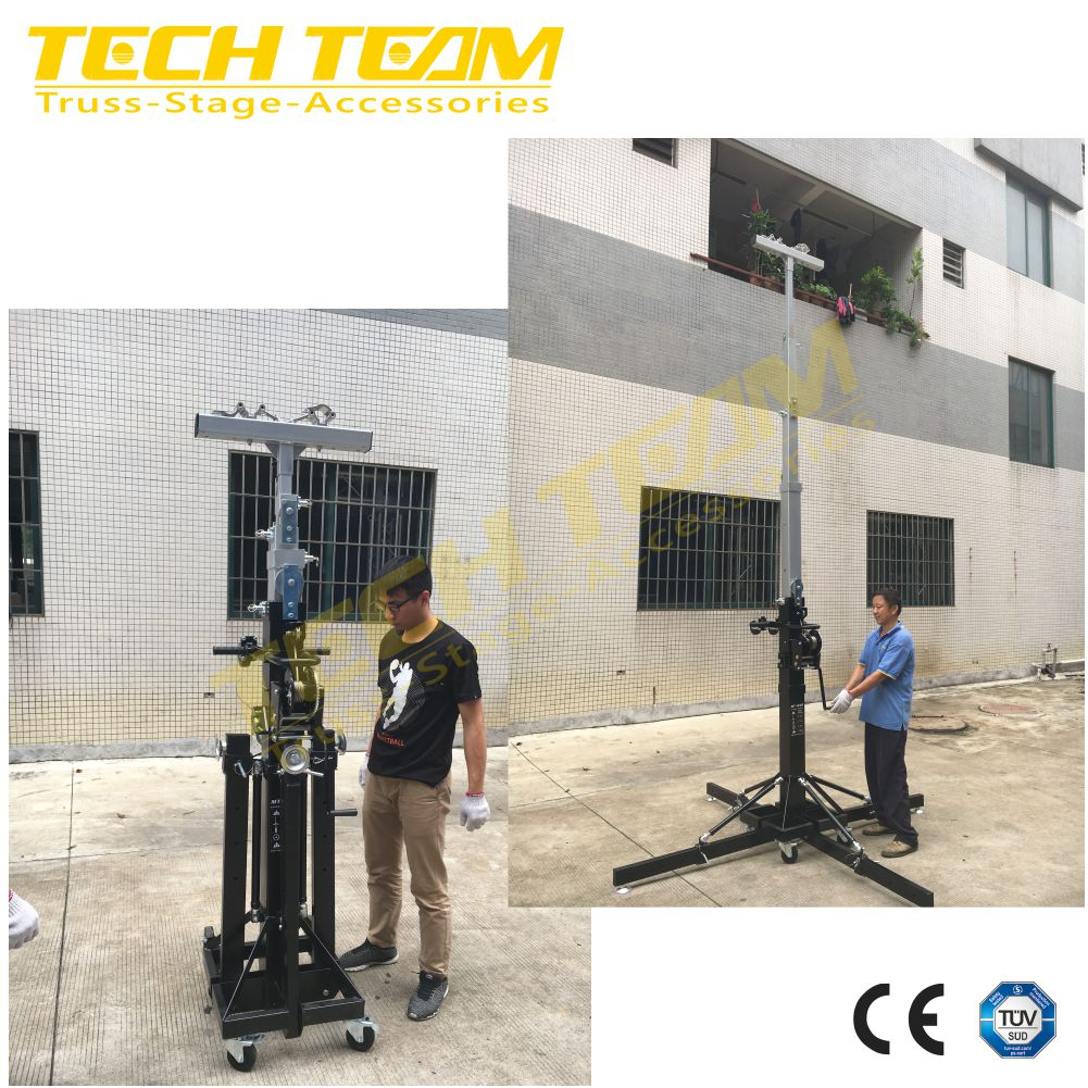 Hand Crank Portable Lighting Truss Lift Light Tower Metal Stand E Structure Systems Solar