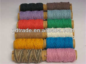 2014 Trendy Multi Colored HEMP Rope Twisted Jute cords Hemp Cording for DIY crafts