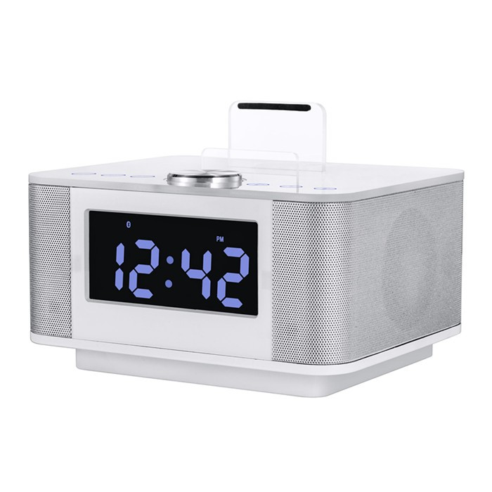Indoor Hotel Home Luid Grote Sound 8 W Blue tooth Speaker Met USB, Wekker, FM Radio, Handsfree