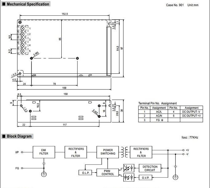 5 volt 5.5 amp power transformer switch power supply 5V 5.5A power Block Diagram Of Volt Power Supply on