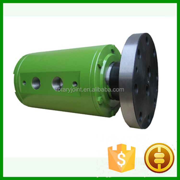 Flange End 2 Passage fiber optic rotary joint, Hydraulic rotary coupling