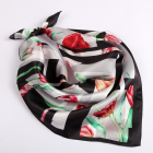Lightweight animal print silk square wrap neck spring silk scarf wholesale china