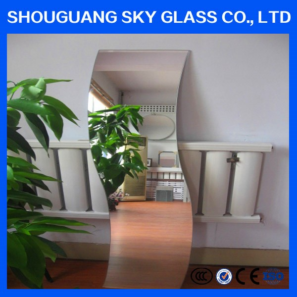 S Shaped Coated Silver Mirror Furniture