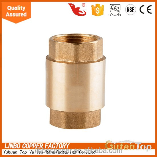"Gutentop 3/4"" Brass Spring Loaded In-Line Check valve EUROPA ITAP 362.5 PSI"