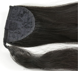 Unprocessed Brazilian Virgin Hair Kinky Curly Drawstring Ponytail Human Hair Ponytail Extensions