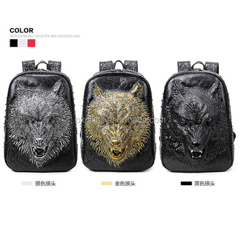 OXGIFT China Supplier Wholesale Manufacturing Factory Price Amazon  travelling waterproof cartoon animal 3D Wolf pu backpack d93aa8bf4f4e4