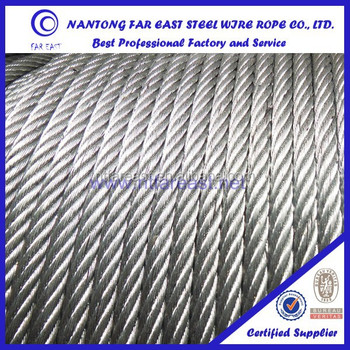 Marine Steel Wire Rope 6x37 With High Fatigue Resistance ...
