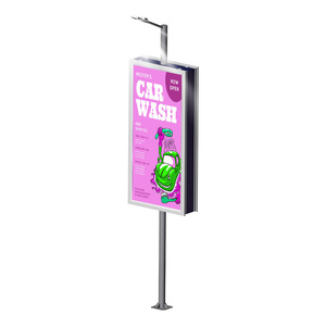 china factory of street furniture aluminum frame outdoor waterproof double sided advertising lamp light pole light box