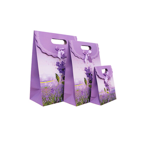 1b7bf11d46 Lavender gift paper bag sticky buckle flip Creative high-end portable gift  packaging bag wholesale
