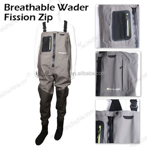 Fly rubber fishing breathable chest waders