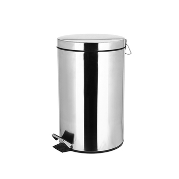 Stainless Steel Trash Can with  Inner Bucket,  Step Pedal Garbage Bin for Office and Kitchen