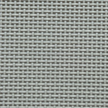 Exceptionnel Grey 1*1 Batyline Sling Marine Vinyl PVC Woven Polyester Outdoor Furniture  Mesh Fabric