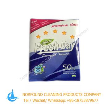 50g Fresh Day Brand Hand Wash And Machine Midium Foam Lasting Perfume Detergent Washing Powder