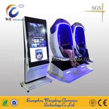 Charming blue LED light Wangdong Virtual Reality 9D Egg VR Simulator 9D Cinema for shopping mall
