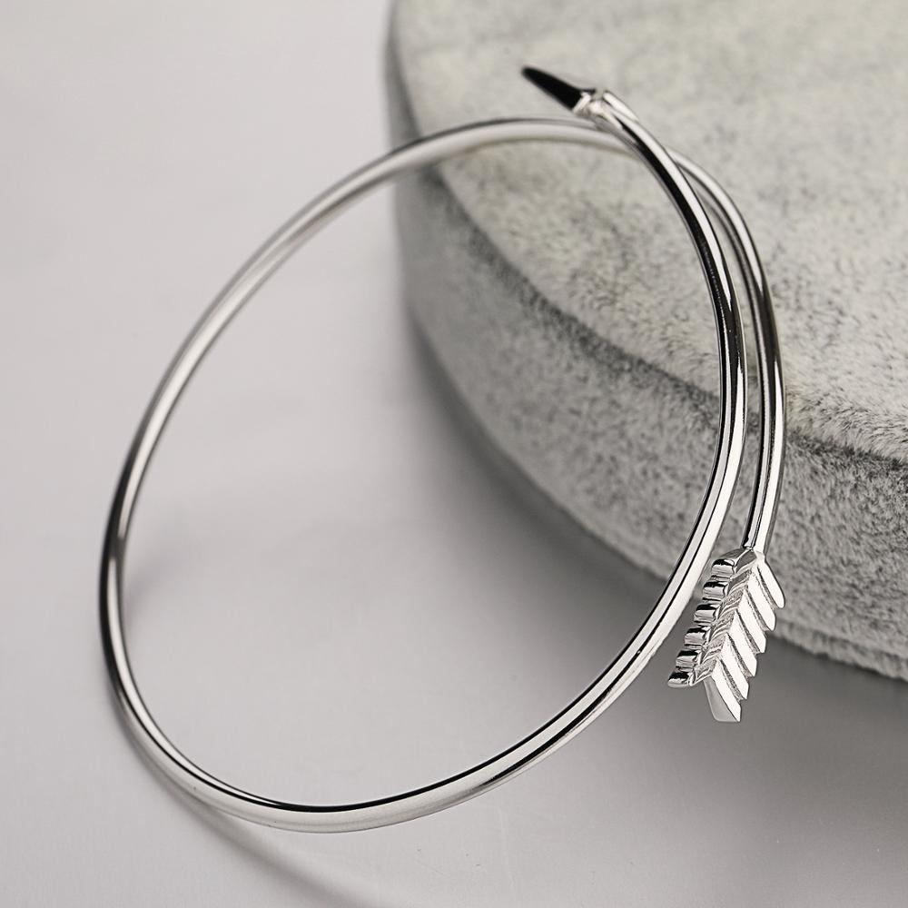 dropshipping ladies handmade indian jewelry arrow silver bracelet bangle