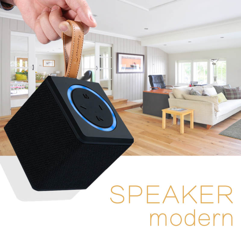 CE ROHS New arrival high fidelity custom logo cubic hands free wireless portable bluetooths speaker with TF card slot