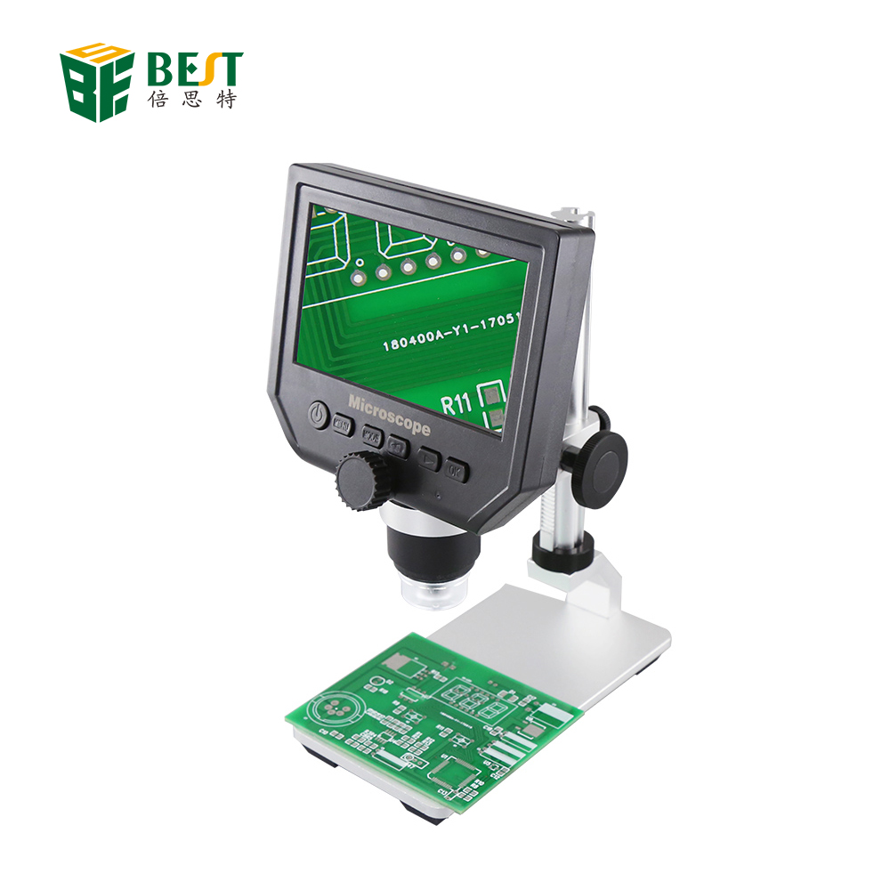 600X USB di Carica Display LCD 3.6 MP Portatile LED Digital Video Microscopio Elettronico Pcb per la Riparazione Cellulare Strumento di Saldatura
