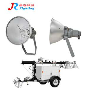 Hydraulic mobile lighting tower with generator 4x1000W metal halide lamps is ideal for illuminating big size Construction