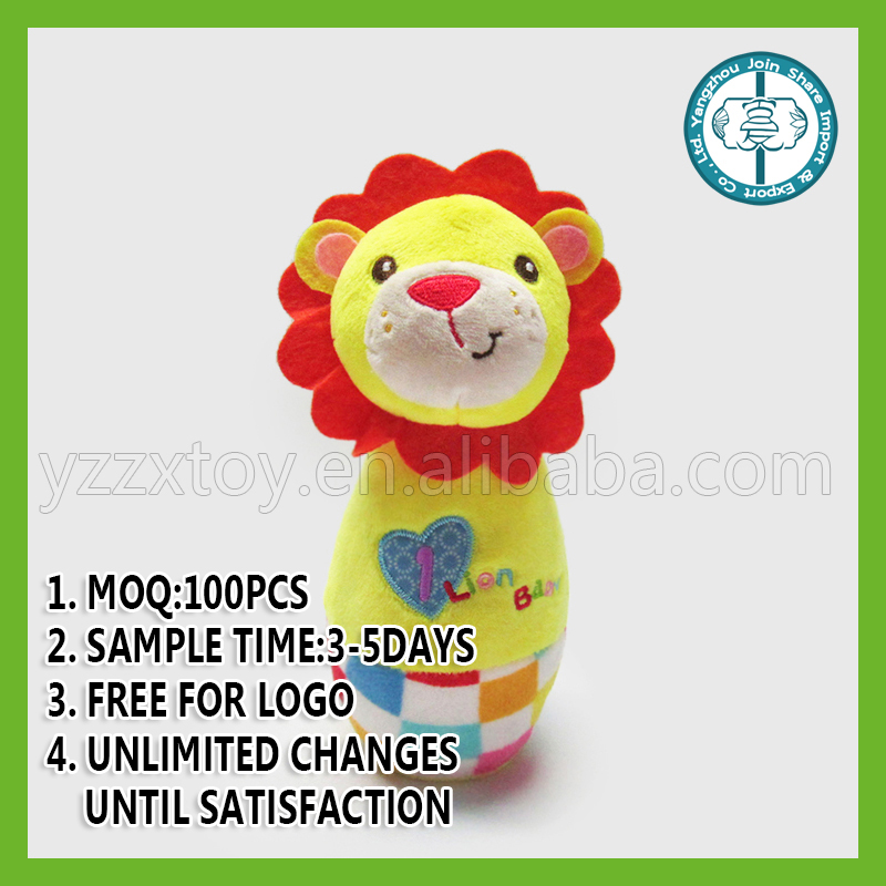 Roll Up Roll Up Leo Stick Rattle Toy for baby