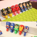 50pcs lot Superman Batman iron Man Headphone Earphone Cable Wire Organizer Cord Holder Cable Winder For