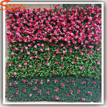 Gr And Flower Made Of Artificial Green Wall For Garden Office Backdrop Decoration