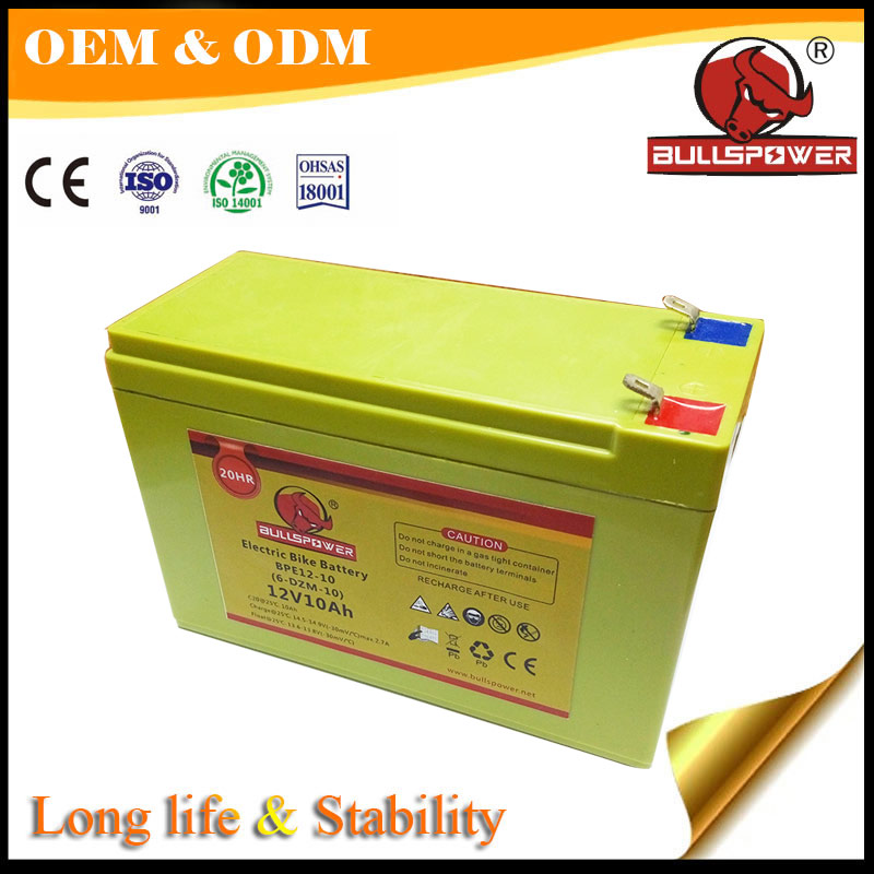 High CCA12v 10ah 6 -DZM- 9 replacement battery for electric scooter