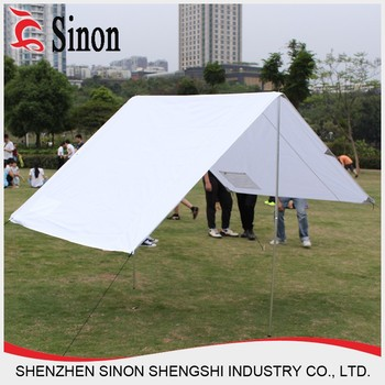 & pop up camping Leisure blue white Polyester Folding beach canopy tent
