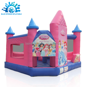Blue Springs Manufacturer Inflatable Princess Bouncer Castle House
